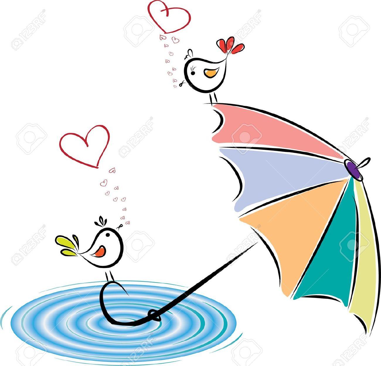 Love rain clipart.