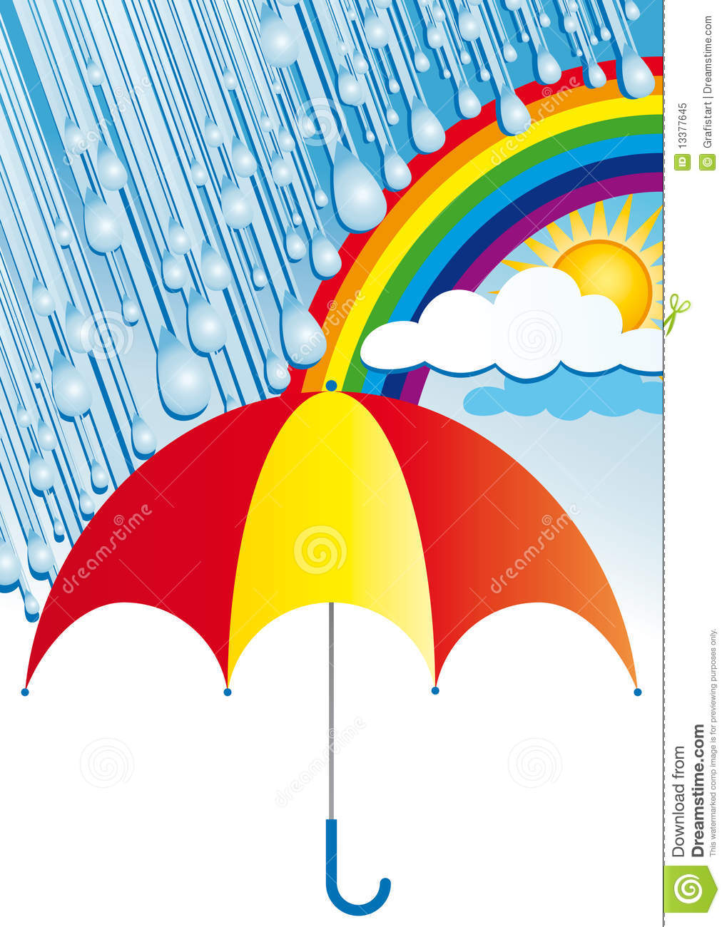 After Rain Comes Sunshine Royalty Free Stock Photo.