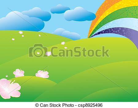 Rainbow after rain Clip Art Vector and Illustration. 22 Rainbow.