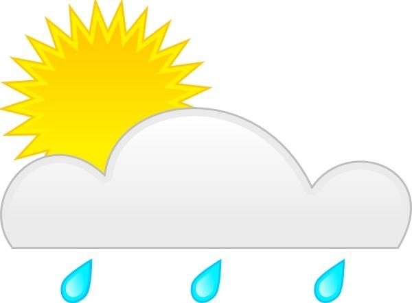 Sunshine after rain clipart.