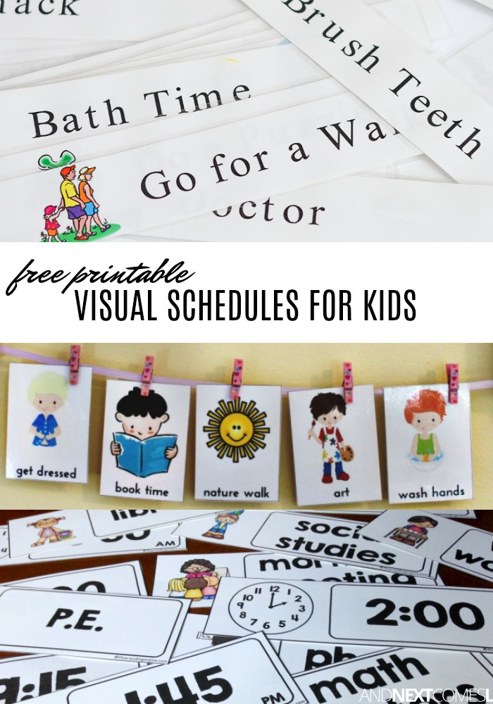 Free Visual Schedule Printables to Help Kids with Daily.