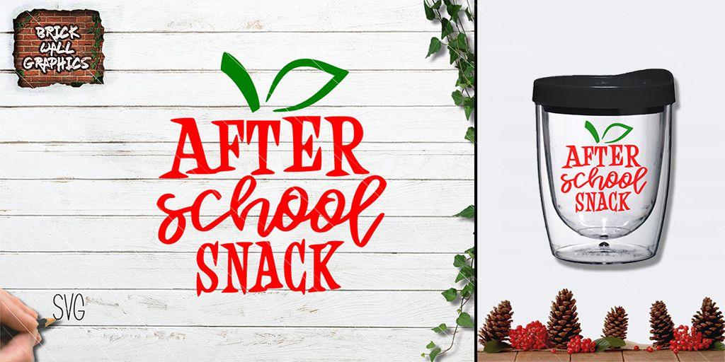 After School Snack SVG File.