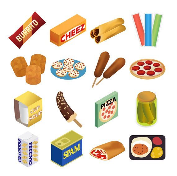 Junk Food Snack Clipart.