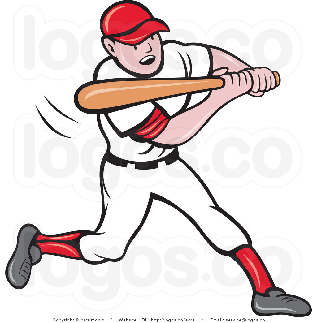 Baseball player after game clipart.