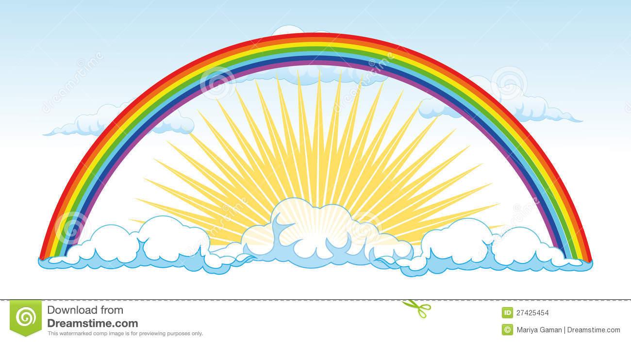 Sun And A Rainbow After The Rain.