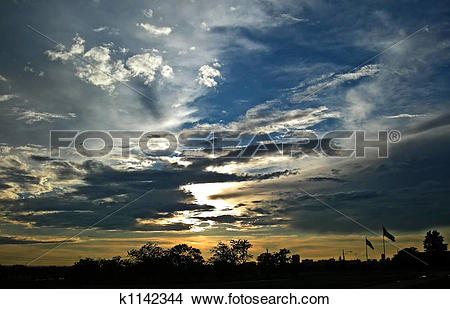 Stock Photo of clouds after storm k1142344.