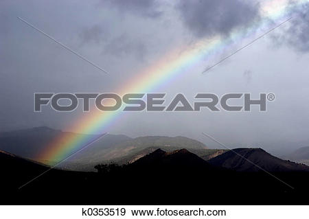 Stock Photograph of Rainbow after storm k0353519.