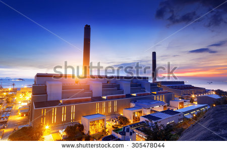 Glow Light Petrochemical Industry On Sunset Stock Photo 165228059.
