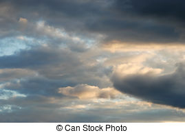 Stock Photography of clouds after a thunderstorm csp35227106.