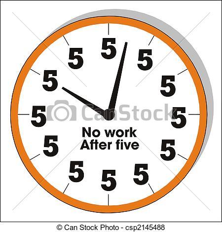 Vector of humorous clock.