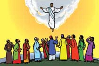 Disciples see jesus after death clipart.