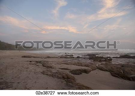 Picture of Seascape with afterglow in San Jose Costa Rica 02e38727.