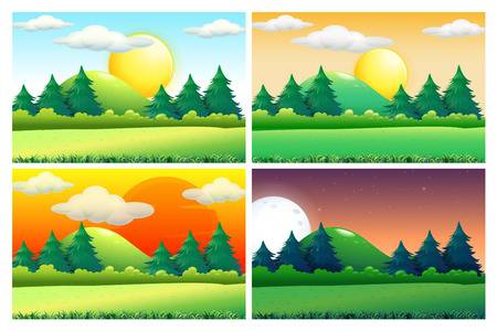 927 Afternoon Sun Stock Vector Illustration And Royalty Free.