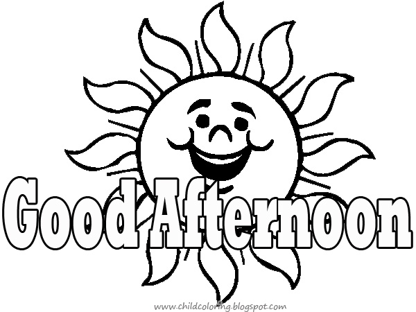 Good afternoon clipart black and white 8 » Clipart Station.