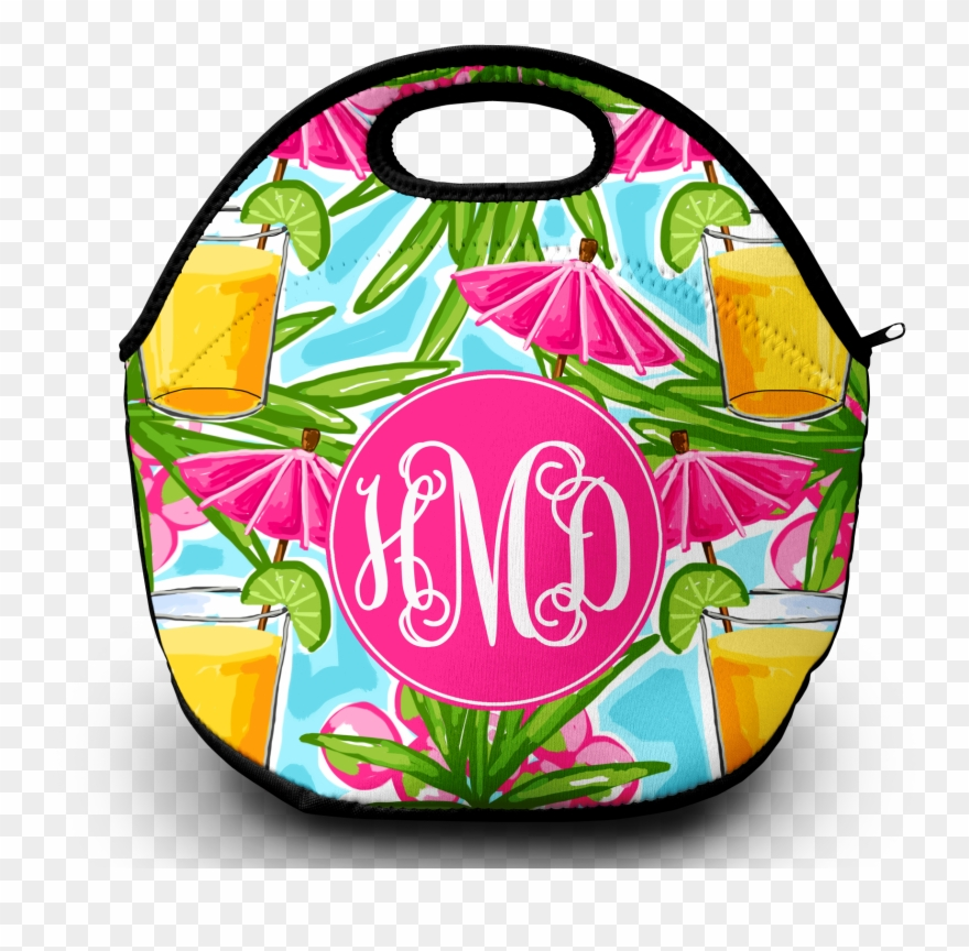 Monogram Lunch Bag Afternoon Cocktail.