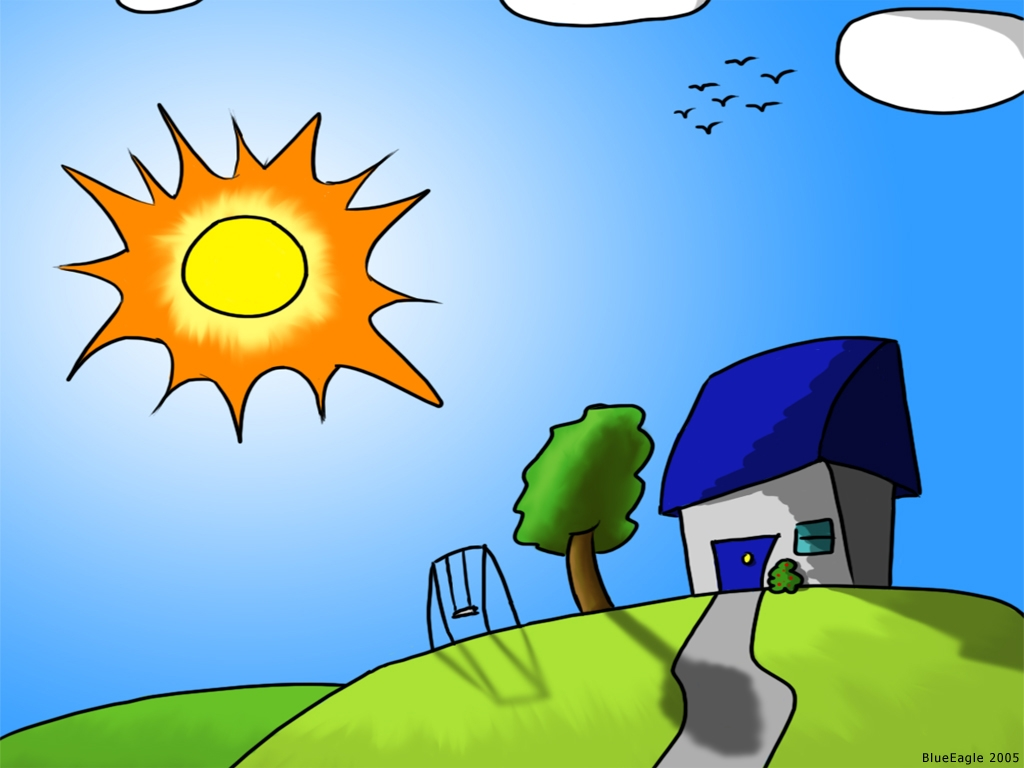 Afternoon sun clipart.