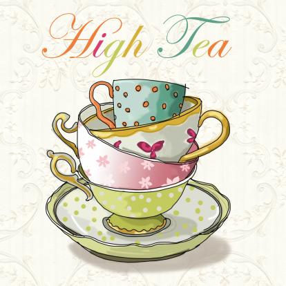 High Tea Clipart.
