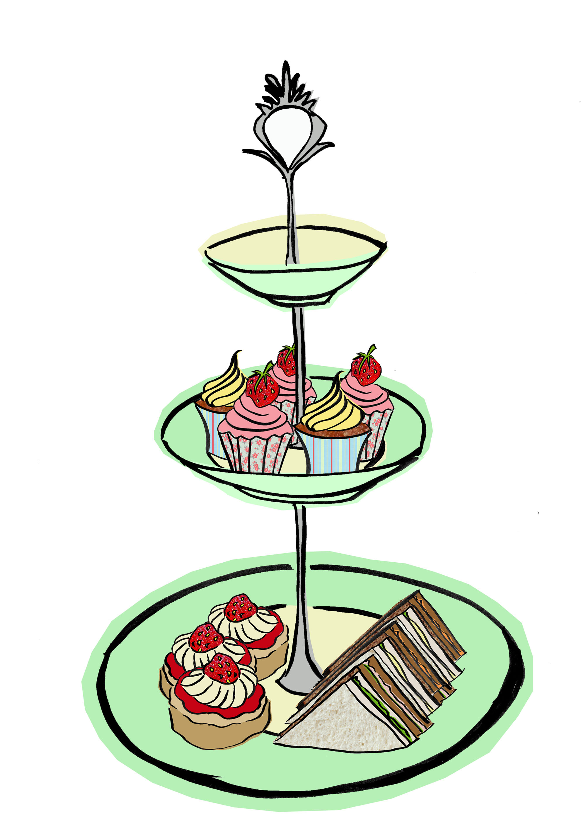 Afternoon Tea Clipart.