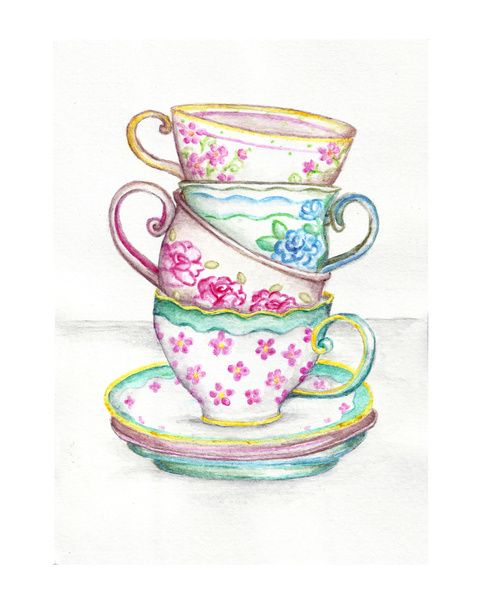 Afternoon tea clipart images.