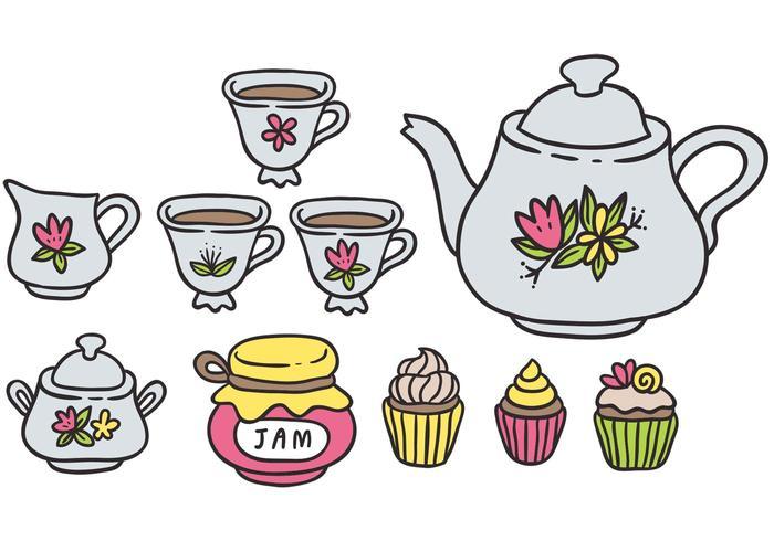 Free Colorful High Tea Vectors.