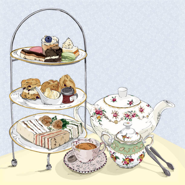 Best Afternoon Tea Illustrations, Royalty.