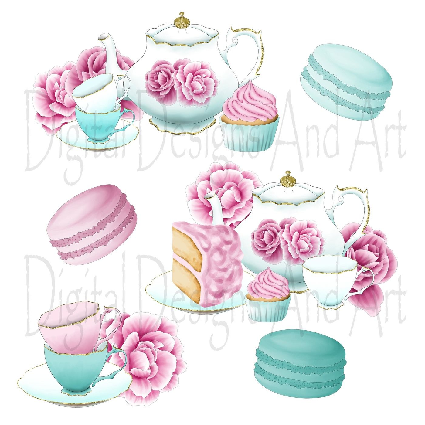 Afternoon tea clipart By DigitalDesignsAndArt.
