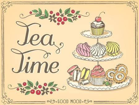 6,888 Afternoon Tea Stock Vector Illustration And Royalty Free.