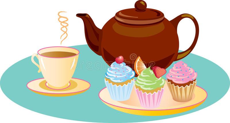 Afternoon Tea Stock Illustrations.