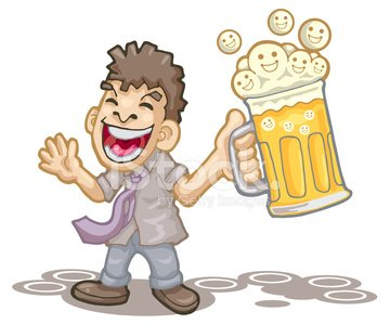 happy hour after work Clipart Image.