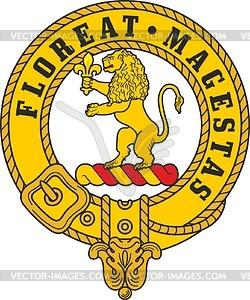Brown (Broun) clan crest badge.