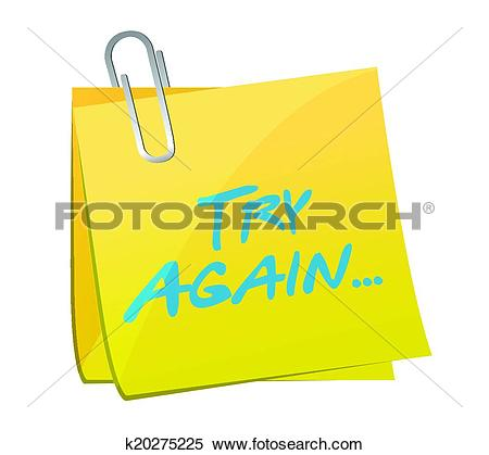Clipart of try again post message illustration k20275225.