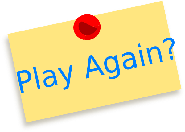 Play Again Button PNG, SVG Clip art for Web.