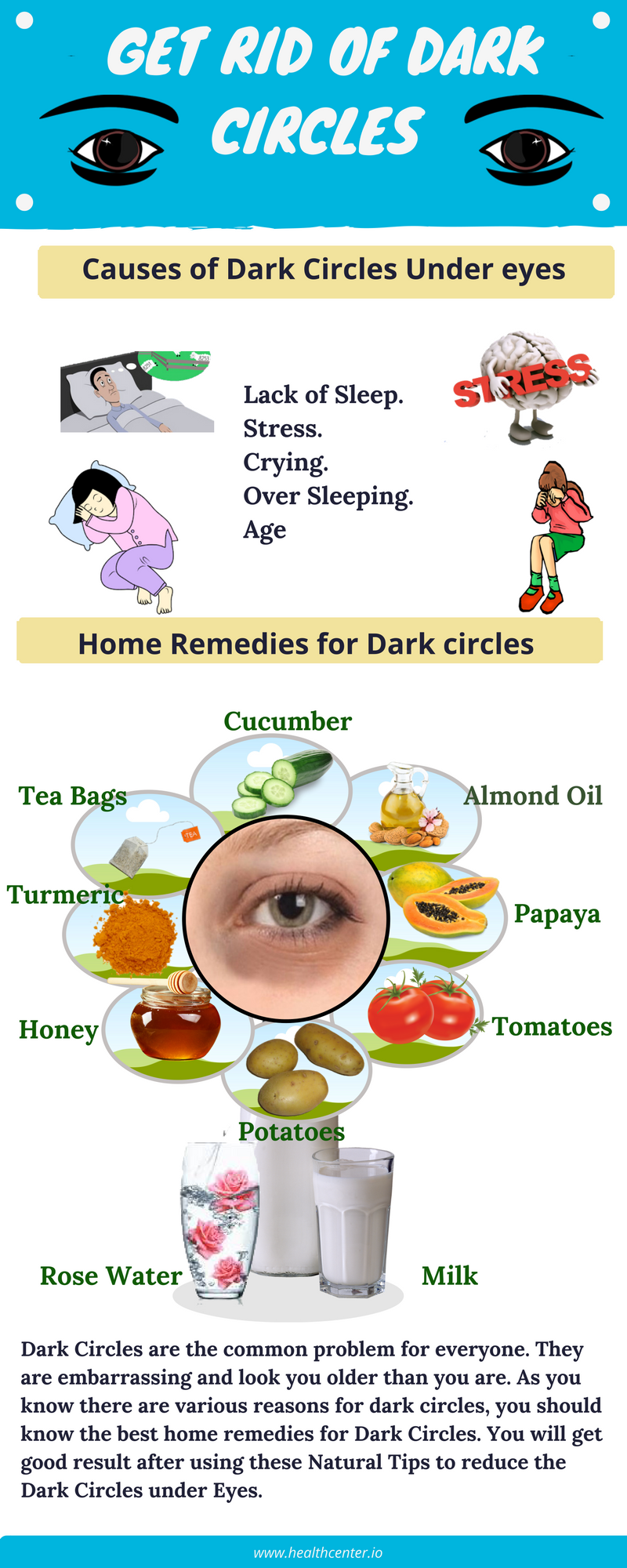 11 Best Home Remedies for Dark Circles under eyes at Home permanently.