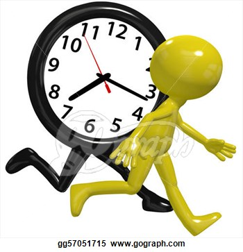 Race Against A Time Clock On A Busy Day Clipart Drawing Gg57051715.