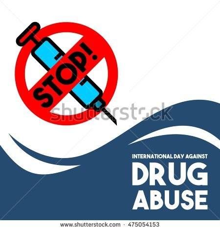 International Day Against Drug Abuse And Illicit Trafficking Stock.