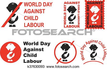 Clipart of World day against child labour k37630093.