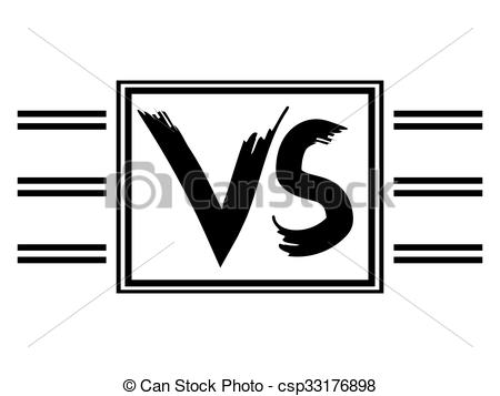 EPS Vectors of Symbol VS competitors against each other.
