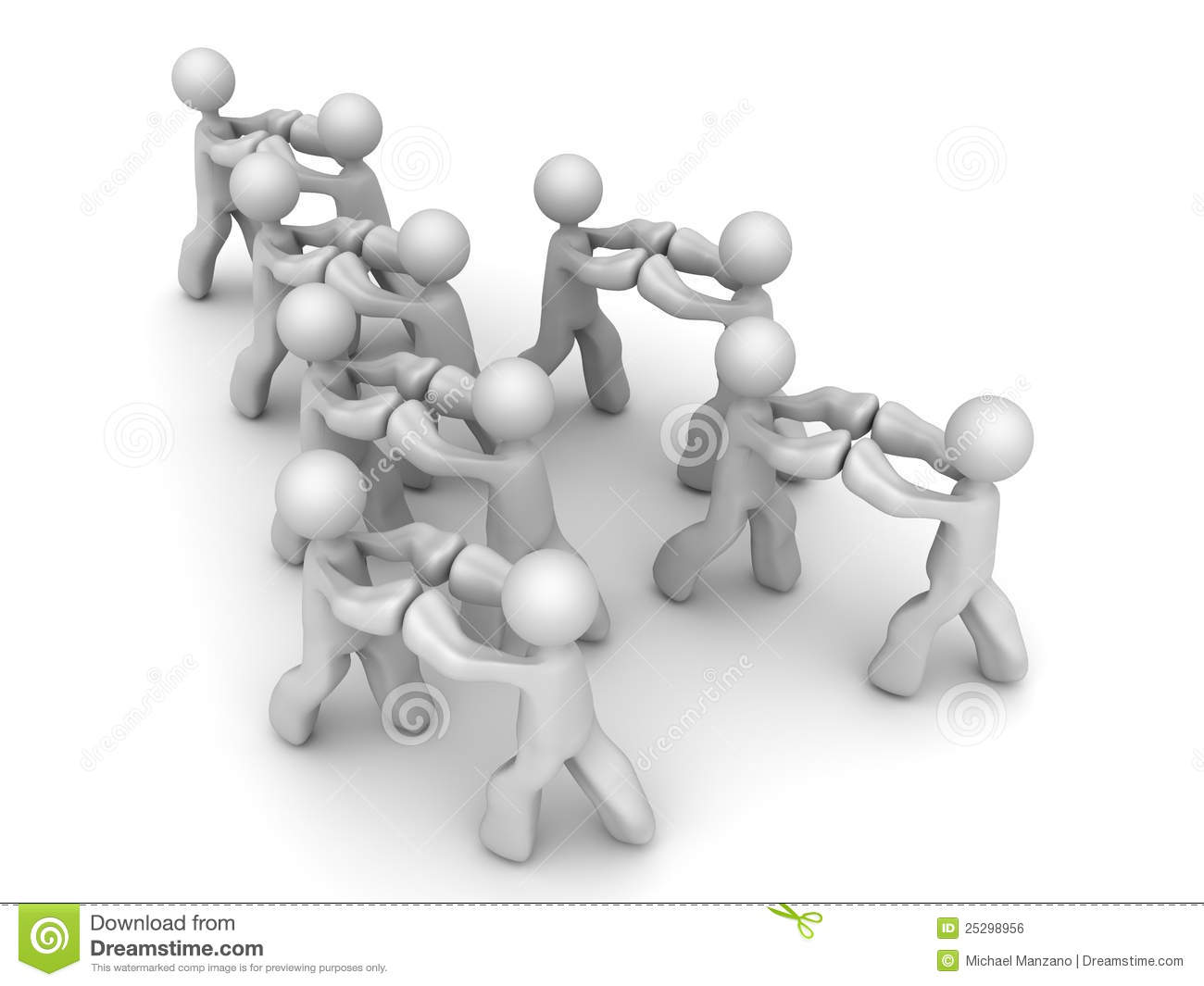 Push Against Each Other Stock Illustrations.