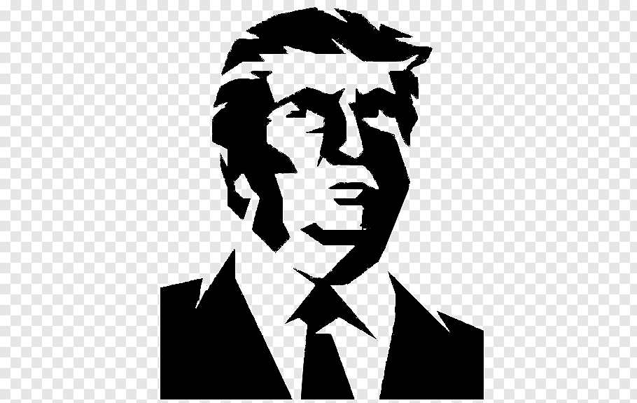 Donald Trump illustration, Trump Tower President of the.