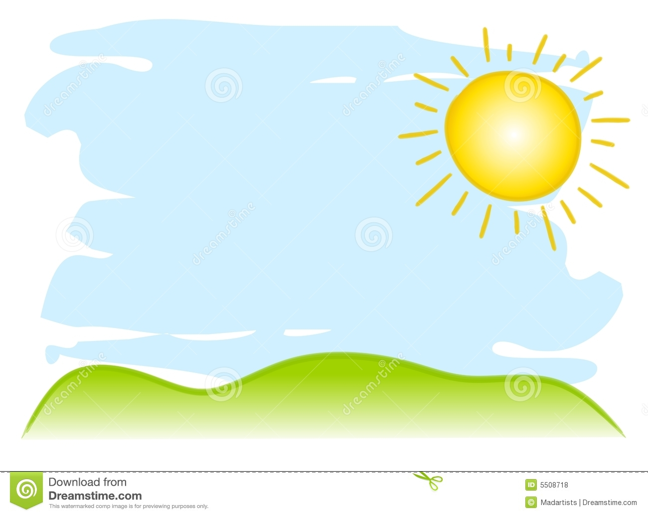 Sunny Sky Background Royalty Free Stock Photos.