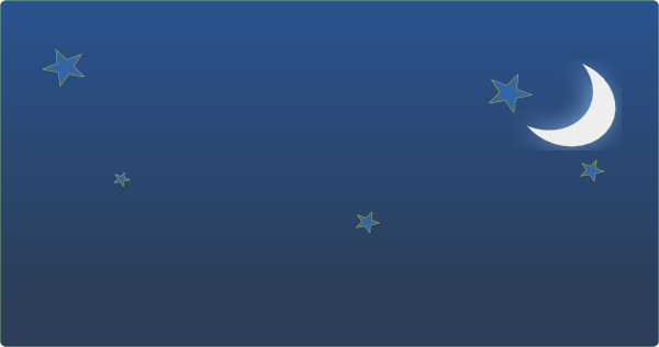 Night Sky With Stars And Moon Clip Art at Clker.com.