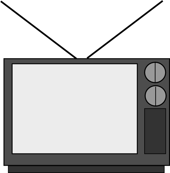 Against television clipart #11