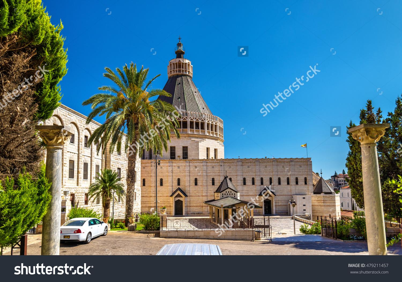 Basilica Of The Annunciation, A Roman Catholic Church In Nazareth.