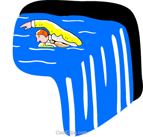 businessman swimming against the current Royalty Free Vector Clip.