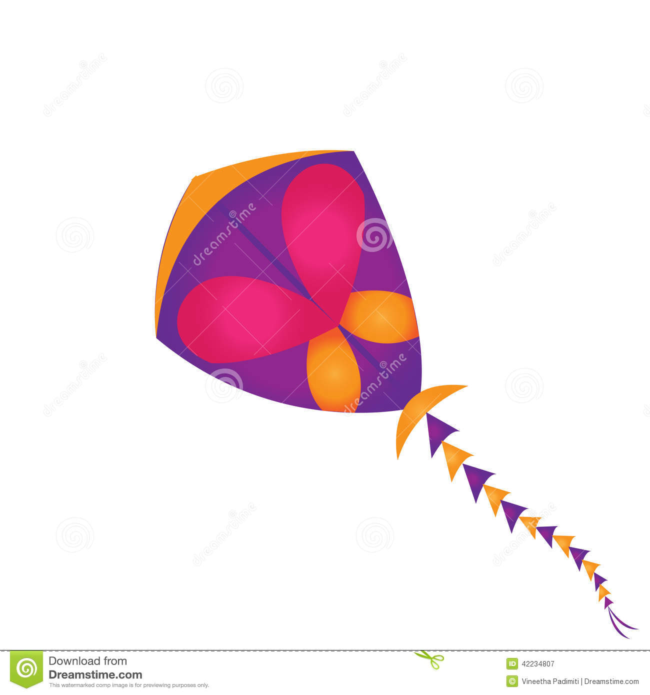 Kites Rise Highest Against Wind, Not With It Stock Illustration.