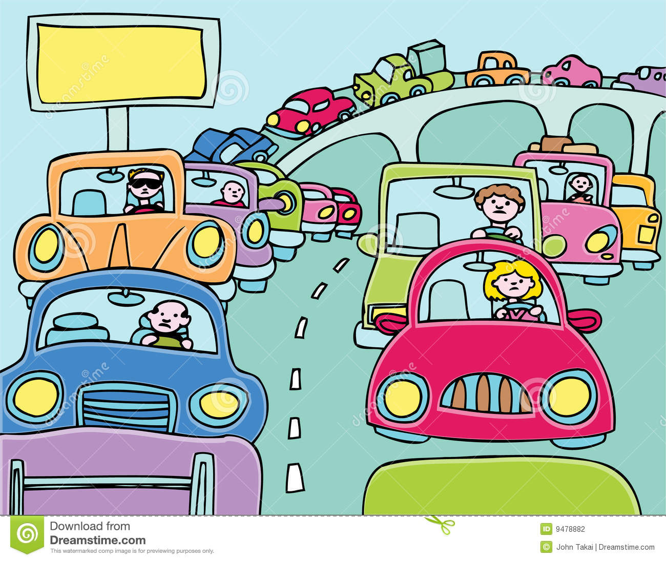 Traffic Jam Clipart Free.