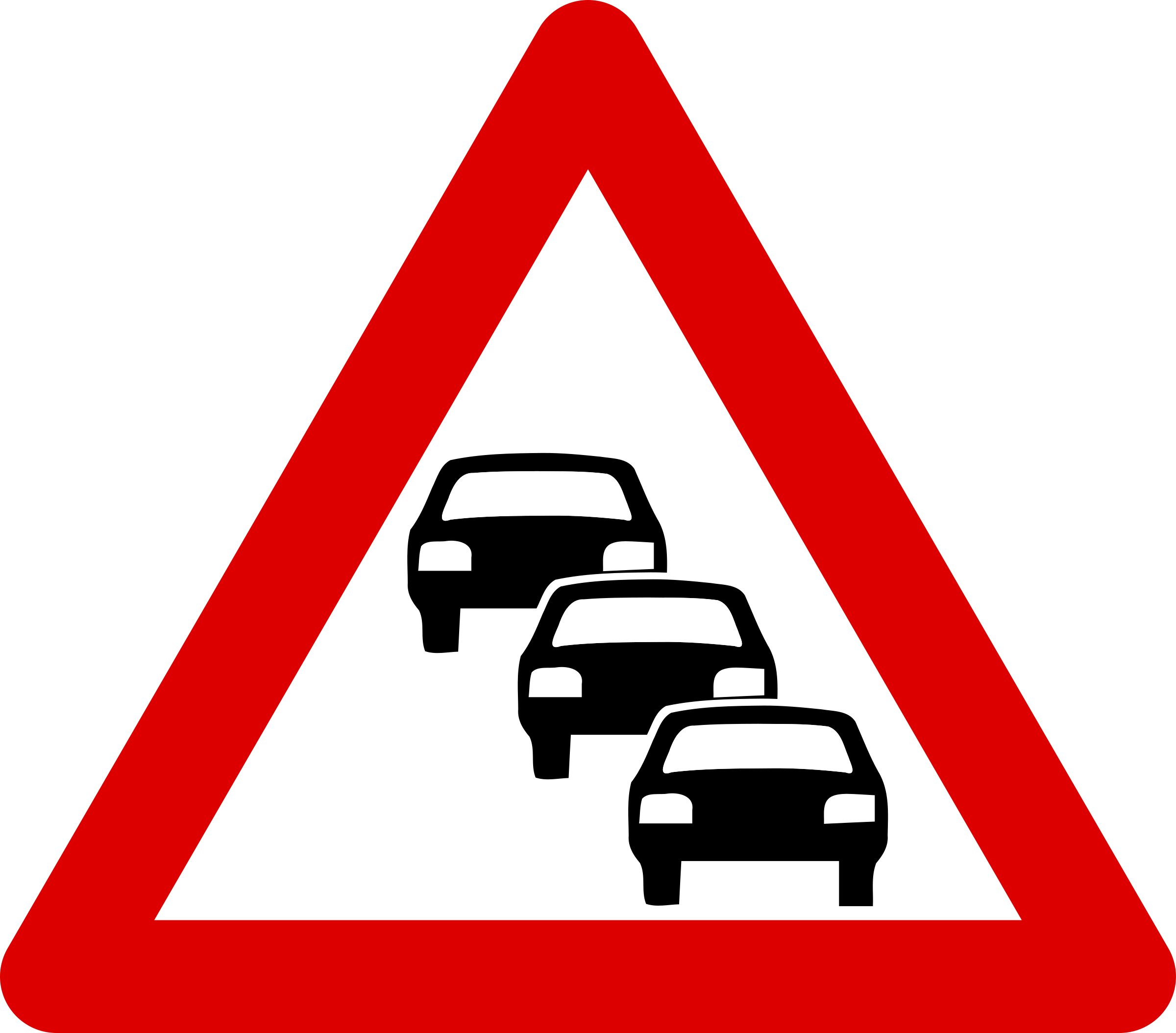 Against traffic clipart #17
