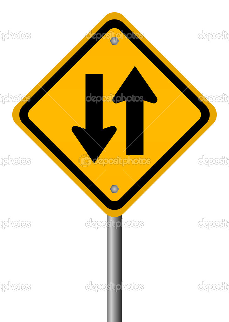 Two way traffic sign — Stock Vector © Arcady #14587303.