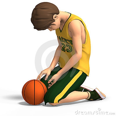 Lossing a game clipart.