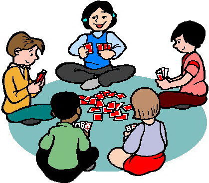 Child playing a game free clipart.